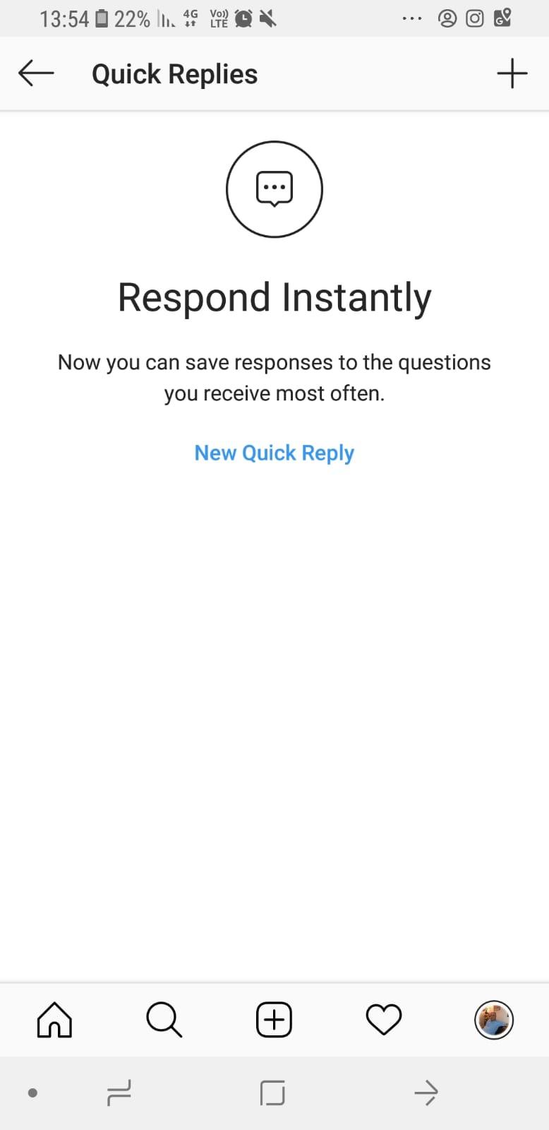 חדש באינסטגרם – יצירת תגובות מהירות בהודעות