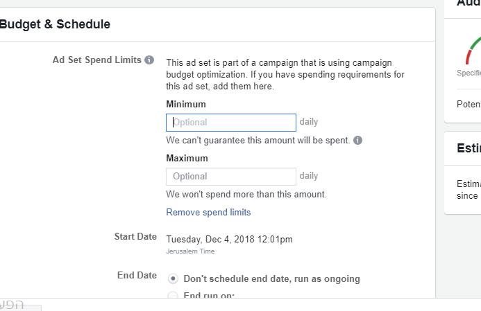 פייסבוק מוסיפים אפשרות חדשה לניהול תקציב קמפיינים לפי הגדרה ראשונית של תקציב כולל / יומי ברמת הקמפיין